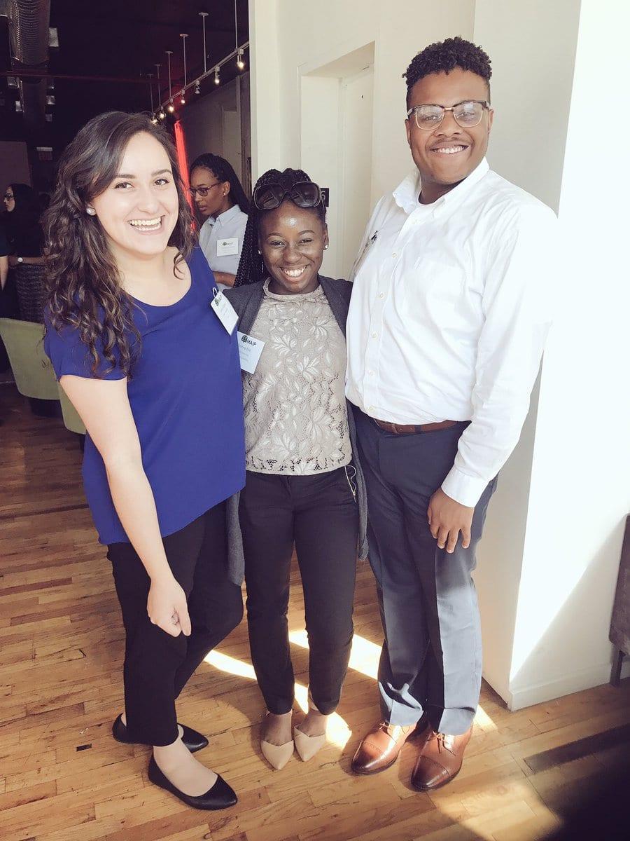 Laura Gamo, Tristiny Bell, and Joshua Oliver
